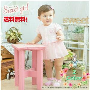 Sweet girl*スウィートガール*ワンピース風半袖ロンパース[ベビー服][赤ちゃん][服][ベビー][カバーオール][女の子][60][70][80][出産祝い][半袖][ギフト]