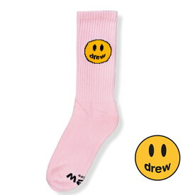【公式 正規品】Drew House 2020SS Mascot Socks - Pink ドリューハウス マスコット ソックス-ピンク 2020 サイズ:FREE 靴下 正規品 【中古】 【新古品 未使用品】