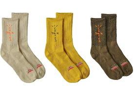 新入荷【公式 正規品】【size:FREE】Travis Scott Cactus Trails Hiking Socks Pack Natural/Gold/Brown トラビス・スコット カクタス トレイルズ ハイキング ソックス   1パック(3足セット) 正規品 【中古】 【新古品 未使用品】