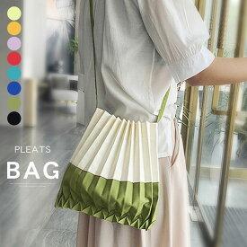 バッグ レディース アコーディオン プリーツ風 巾着バッグ プリーツバッグ ミニバッグ エコバッグ コンパクト 収納力