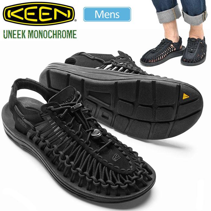 \使ってお得!お買い物マラソンクーポン発行中/キーン KEEN ユニーク モノクローム サンダル[ブラック/ブラック](1014097)UNEEK MONOCHROME メンズ(男性用)【靴】_sdl_1704ripe