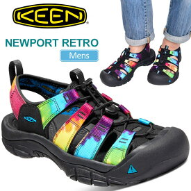 キーン サンダル ニューポートレトロ[オリジナルタイダイ](1018804)KEEN NEWPORT RETRO メンズ【靴】_sdl_1807ripe