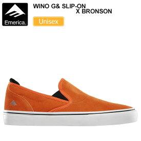 エメリカ スニーカー EMERICA ワイノ G6 スリッポン×ブロンソン【オレンジ】(23-28cm)WINO G6 SLIP-ON×BRONSON メンズ レディース【靴】_snk_1911ripe