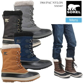 【正規取扱店】ソレル SOREL スノーブーツ メンズ 1964パックナイロン 1964 PAC NYLON ブラック クオリー キャメルブラウン タバコ ネイビー 25-29cm NM3487 20FW wbt【靴】2009ripe