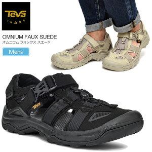 【正規取扱店】テバ Teva サンダル スニーカー メンズ オムニウムフォックススエード ブラック プラザトープ 25-29cm OMNIUM FAUX SUEDE 1116202 21SS sdl【靴】2103ripe