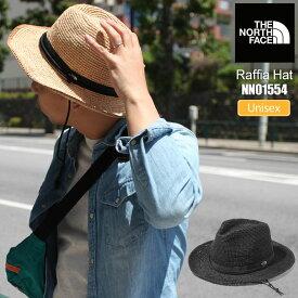 【正規取扱店】ノースフェイス THE NORTH FACE 帽子 麦わら帽 メンズ レディース ラフィアハット RAFFIA HAT ナチュラルベージュ ブラック NN01554 21SS 2106ripe