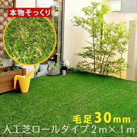 ロール人工芝(芝丈30mm)幅1m×長さ2m SST-FME-3002【送料無料 ロールタイプ リアル 屋上緑化 ベランダ 庭 屋外 グリーンターフ ガーデンターフ】