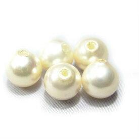 国産貝パール ホワイト8mm玉 片穴玉 10個 ハンドメイド 手作り パールアクセサリー制作 最高級貝パール