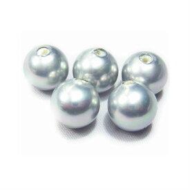 国産貝パール グレー8mm玉 片穴玉 10個  ハンドメイド 最高級貝パール