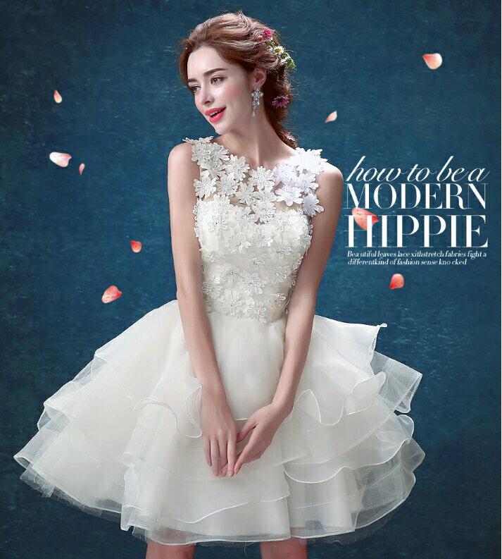 xxs XXXL ウェディングドレス 着丈85CM 80CM 2タイプ ファスナー 一人でも着用楽々♪ドレス 結婚式 披露宴  刺繍/プリンセスライン/ミニドレス/二次会/パーティー