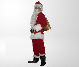即納♪  サンタクロース 大人 9点セット 3サイズ 防寒対策 手提げ袋付き  コスプレ /コスチューム サンタ 衣装/ X'masグッズ /コスチューム レディース・サンタコスチューム/ワンピース/イベント/防寒グッズ CMS-0002