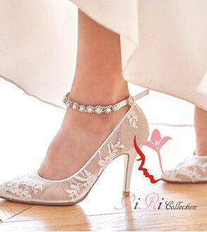 有高一檔次的婚禮鞋吊帶,拍大的尺寸小的尺寸鞋跟安全感8.5cm尺寸21~25.5新娘鞋刺綉花裝飾花總比賽高跟鞋21cm22.5cm23cm24cm25cm派對鞋/婚禮/接着的宴會/前
