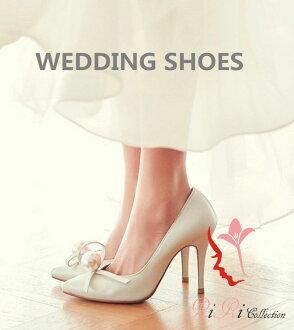 拍高一檔次的婚禮鞋珍珠大的尺寸小的尺寸鞋跟安全感8.5cm尺寸21-26新娘鞋刺綉花裝飾花總比賽高跟鞋21cm22.5cm23cm24cm25cm派對鞋/婚禮/接着的宴會/前10cm