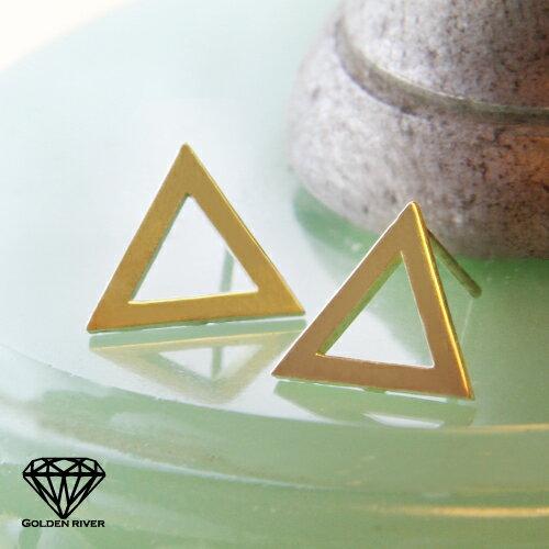 トライアングル ピアス ゴールド 三角形 ピアス K10 10金