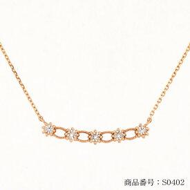 K18 18金 天然ホワイトトパーズ バー ネックレス ゴールド GOLD レディス
