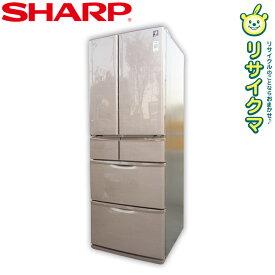 【中古】D▼シャープ 冷蔵庫 430L 2016年 6ドア フレンチドア 観音開き プラズマクラスター搭載 自動製氷 SJ-XF44B (12607)