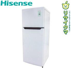 【中古】D▼ハイセンス 冷蔵庫 120L 2016年 2ドア ホワイト 単身 一人暮らし HR-B12A (12702)