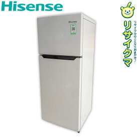 【中古】D▼ハイセンス 冷蔵庫 120L 2016年 2ドア ホワイト HR-B1201 (12254)