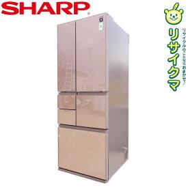 【中古】O▼シャープ 冷蔵庫 551L 2015年 6ドア フレンチドア 観音開き ガラスドア プラズマクラスター搭載 SJ-GT55B (17144)