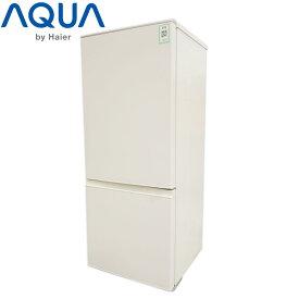 【中古】O▼アクア 冷蔵庫 184L 2017年 2ドア 大容量 耐熱性能天板 ボトムフリーザ ホワイト AQR-BK18G (17815)