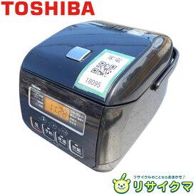【中古】M▽東芝 マイコン炊飯器 2018年 3合炊き 銅コート釜 一人暮らし ブラック RC-5SL (18095)