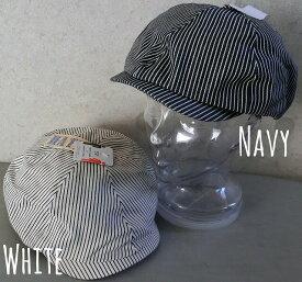 1985003■帽子 HATENA ハンチング キャスケット ハンキャス ヒッコリー サイズ調整可 オールシーズン メンズ レディース