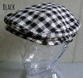 6365396■3s0s 帽子 2colors ブロックチェック ギンガムチェック ハンチング ゴム使用 ゴルフ トレンド プチプラ レディース メンズ 男女兼用