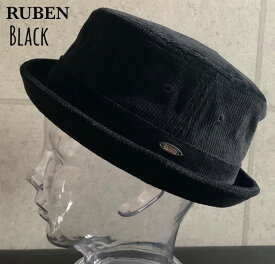 7091997■3a0w 帽子 3colors ruben ルーベン コーデュロイ ポークパイ ハット サイズ調整可能 プレート ゴルフ レディース メンズ 男女兼用