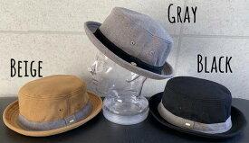 7247373■0a1w 帽子 3colors ファビュラス Fabulous スエット スウェット チャーム付き ポークパイ ハット 男女兼用 オールシーズン