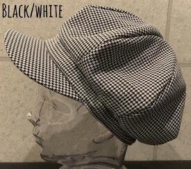 7037627■0a1w 帽子 3colors 千鳥 チェック ボリューム キャスケット アップル メンズ レディース 男女兼用 プチプラ オールシーズン 千鳥柄