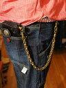 FUNNY(ファニー) メンズ革財布用ウォレットチェーンSE-1 アンティークブラスゴールド 真鍮製(ブラス)長財布用チェーン