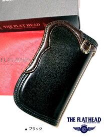 THE FLAT HEAD(ザ・フラットヘッド) SEMI LONG WALLET手縫い多脂革 セミロング革財布 【黒/茶】【メンズ/アメカジ/フラヘ/バイカー/長財布/日本製】