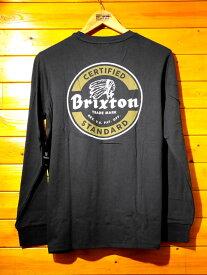 BRIXTON(ブリクストン)長袖Tシャツ 黒 ブラック 【メンズ/ロック/サーファー/スケーター/サーフ】