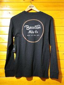 BRIXTON(ブリクストン) 長袖Tシャツ ブラック 黒【メンズ/ロック/サーファー/スケーター/サーフ】