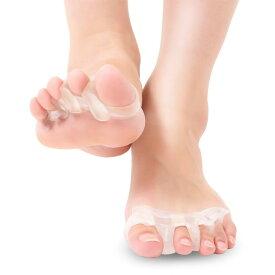 足指サポーター 足指パッド 広げる やさしいフットケア 柔らか高品質シリコン 男女兼用 足指美人 5本指タイプ 2個セット ※医療用 の 外反母趾 内反母指 グッズではありません 幸せラボ