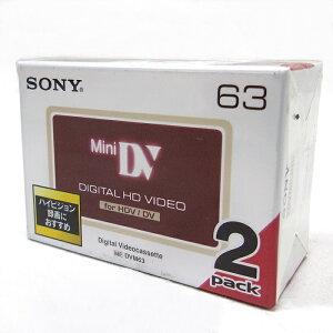SONY 2DVM63HD DIGITAL HD VIDEO ミニDVカセット 2本パック