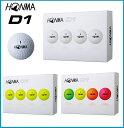 ☆2018年 HONMA ホンマ NEW D1 ゴルフボール 1ダース(12個入り) ホワイト/イエロー/マルチカラ—