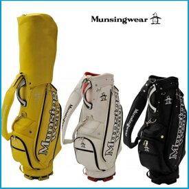 ☆2019年 Munsing wear マンシングウェア  MQBNJJ02 キャディーバッグ ブラック/ホワイト/イエロー