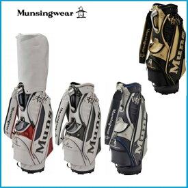 ☆2019年 Munsing wear マンシングウェア MQBNJJ04 キャディーバッグ ブラック/ネイビー/ホワイト/ホワイト×マルチ