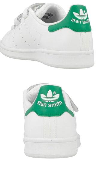 adidasアディダスオリジナルスSTANSMITHCFJスタンスミスレディーススニーカーホワイト/グリーン【S82702】ads36