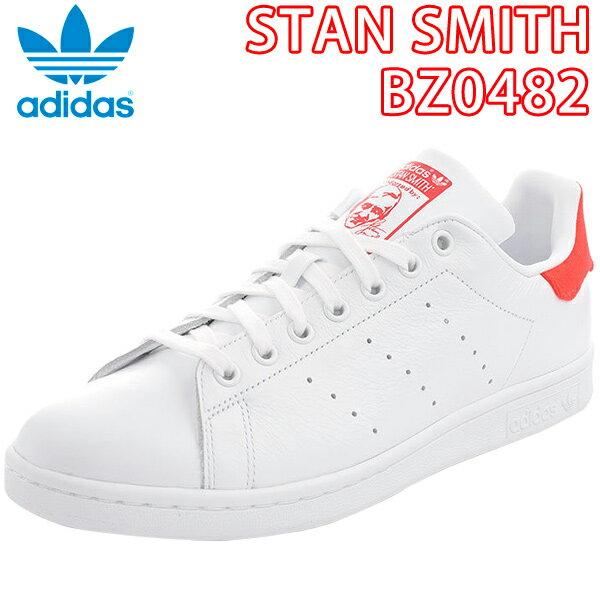 アディダス スタンスミス レディース スニーカー ホワイト レッド adidas Originals BZ0482 ads84