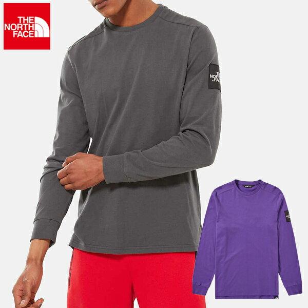 【クーポンでさらに400円OFF】ノースフェイス メンズ Tシャツ カットソー ロングスリーブ グレー パープル THE NORTH FACE TNF MEN'S L/S FINE 2 TEE 【USAモデル】 nf165