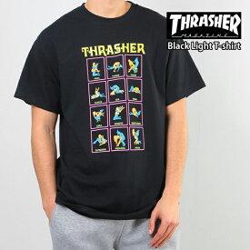 【クーポンで最大500円OFF】スラッシャー メンズ 半袖 Tシャツ THRASHER Black Light T-shirt【USAモデル】thrasher105(単品購入に限りメール便発送)