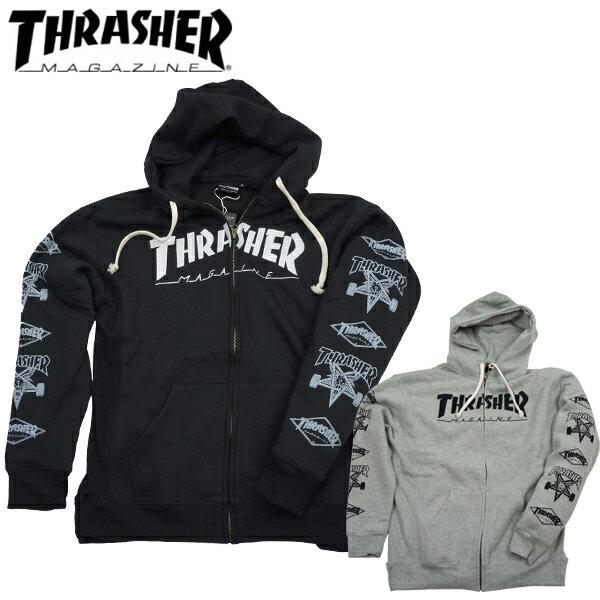 スラッシャー THRASHER ジップアップパーカー ジップパーカー 裏起毛 スウェット THRASHER HOMETOWN ZIP HOODIE TH8602Z thrasher33
