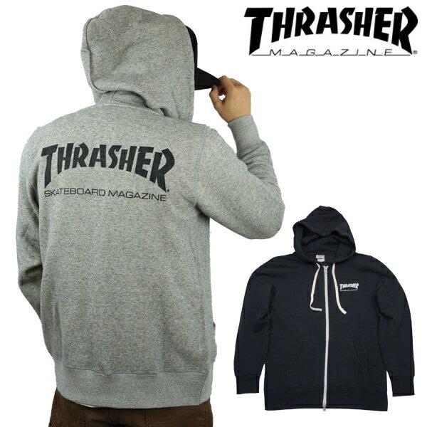 スラッシャー THRASHER スエット フルジップパーカー MAG LOGO FRENCH TERRY SWEAT ZIP PARKA ジップアップ フードスエット メンズ レディース TH8600FT thrasher34