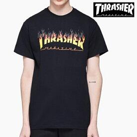 【クーポンでさらに100円OFF】スラッシャー メンズ Tシャツ フレームロゴ 半袖 ショートスリーブ THRASHER BBQ S/S 【USAモデル】 thrasher80 (単品購入に限りメール便発送)