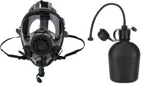 数量限定特価!! SGE 400/3D NATO軍用 NBC 最新型フィルター付き タクティカル ガスマスク ドリンクセット(新品)