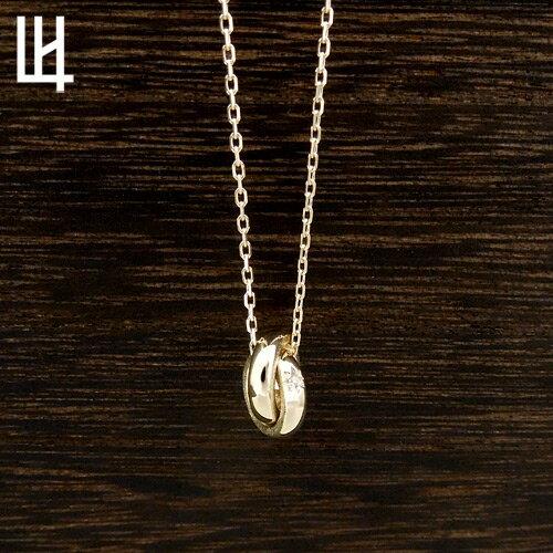 LION HEART BASIC For Gift Eternal Yule ハロダブルリングネックレス ゴールド 01NE1003YG ライオンハート フォー ギフト エターナルユール ゴールド メンズ レディース ネックレス [LH]