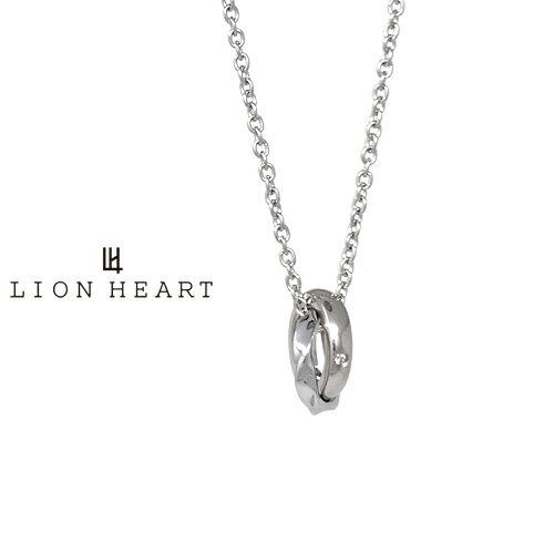 ライオンハート Double Ring Collection ウェーブダブルリングネックレス シルバー 03NE0045SV LION HEART ステンレス ネックレス ライオンハートネックレス [LH]