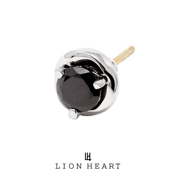 LION HEART Petite Modern スタッドプチピアス【メビウス2】 ブラック 01EA0311BK ライオンハート プチモダン シルバー ピアス 1点売り 片耳用 メンズ [LH]